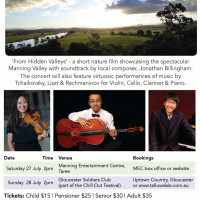 Tallowdale Music film premiere gala concerts poster