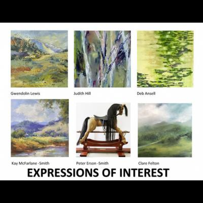 2018ExpressionsOf Interest_poster 6 artists 6 pics