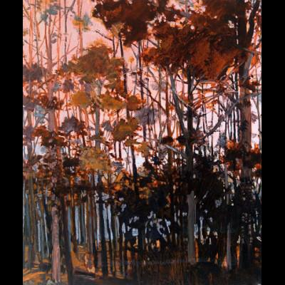 Frances Feasey 2015-PinkTreeSunset_